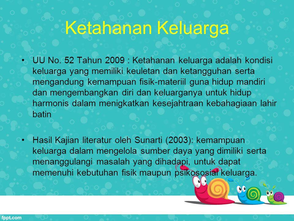 Kerangka Pikir Ketahanan Keluarga Sumber: Sunarti, 2003 (Perumusan ukuran ketahanan keluarga)