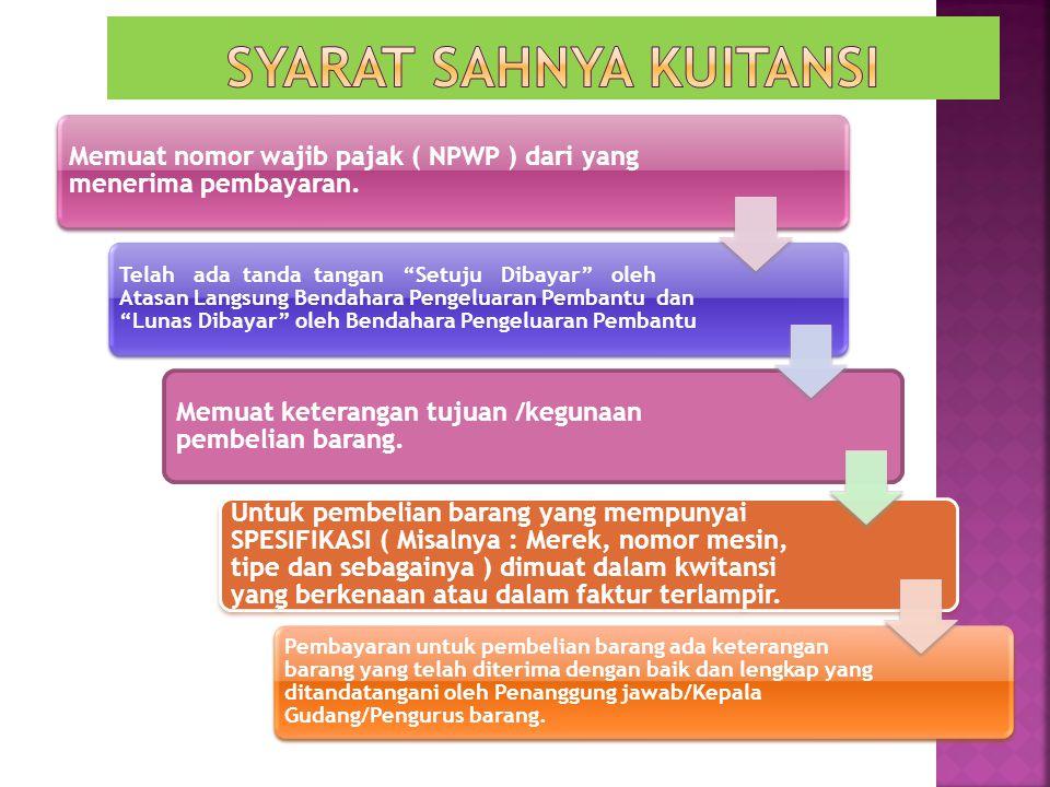 Memuat nomor wajib pajak ( NPWP ) dari yang menerima pembayaran.