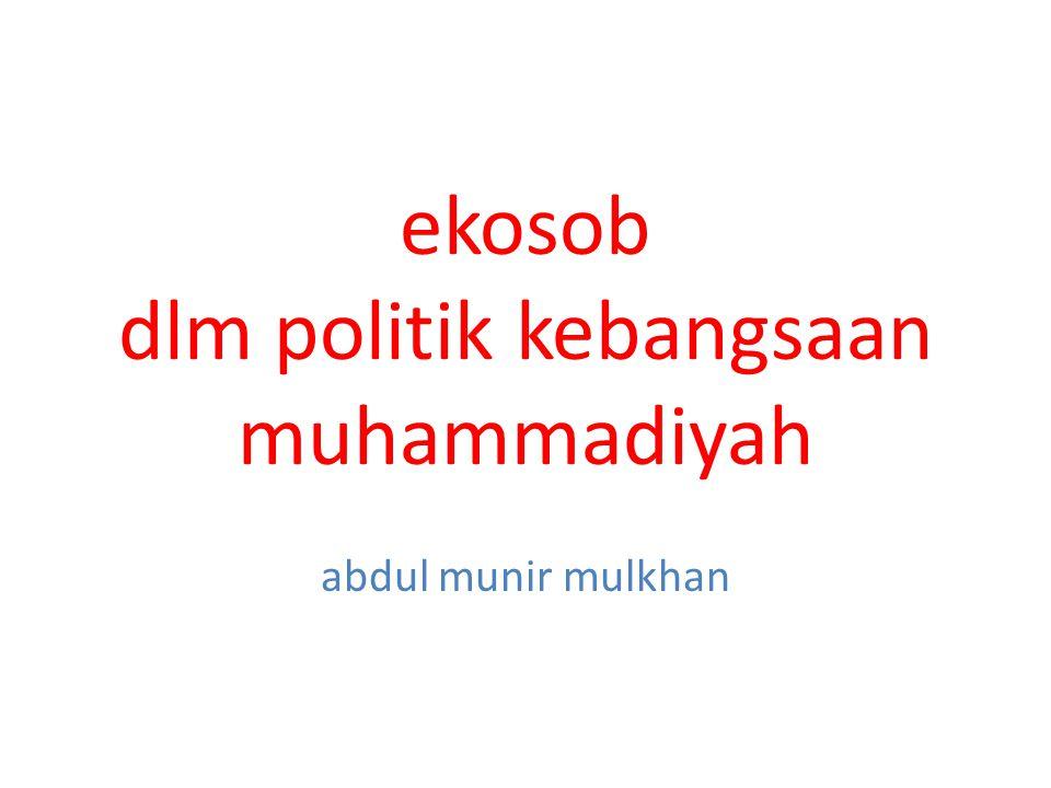 ekosob dlm politik kebangsaan muhammadiyah abdul munir mulkhan