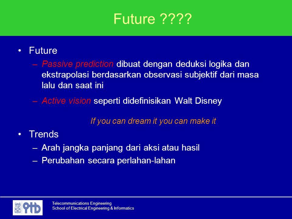 Telecommunications Engineering School of Electrical Engineering & Informatics Future ???? Future –Passive prediction dibuat dengan deduksi logika dan