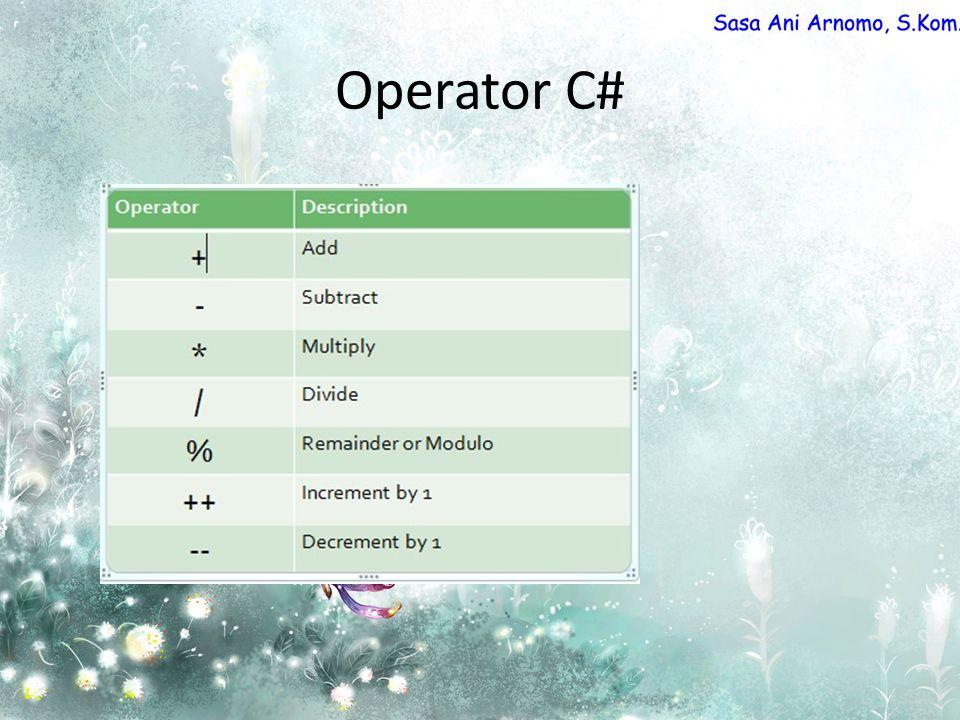 Operator C#