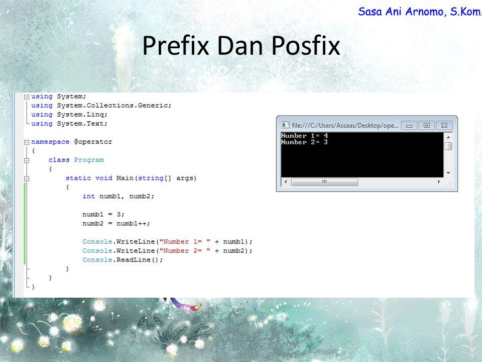 Prefix Dan Posfix