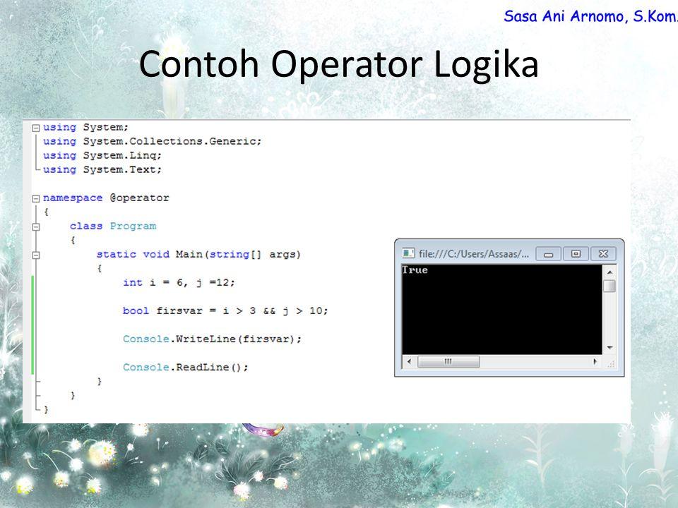 Contoh Operator Logika