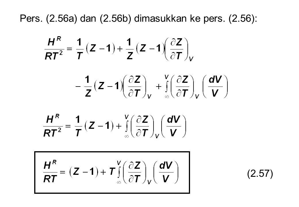 Pers. (2.56a) dan (2.56b) dimasukkan ke pers. (2.56): (2.57)