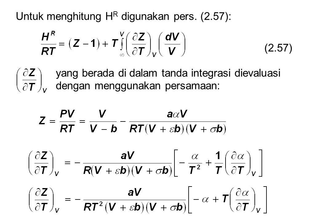 Untuk menghitung H R digunakan pers.
