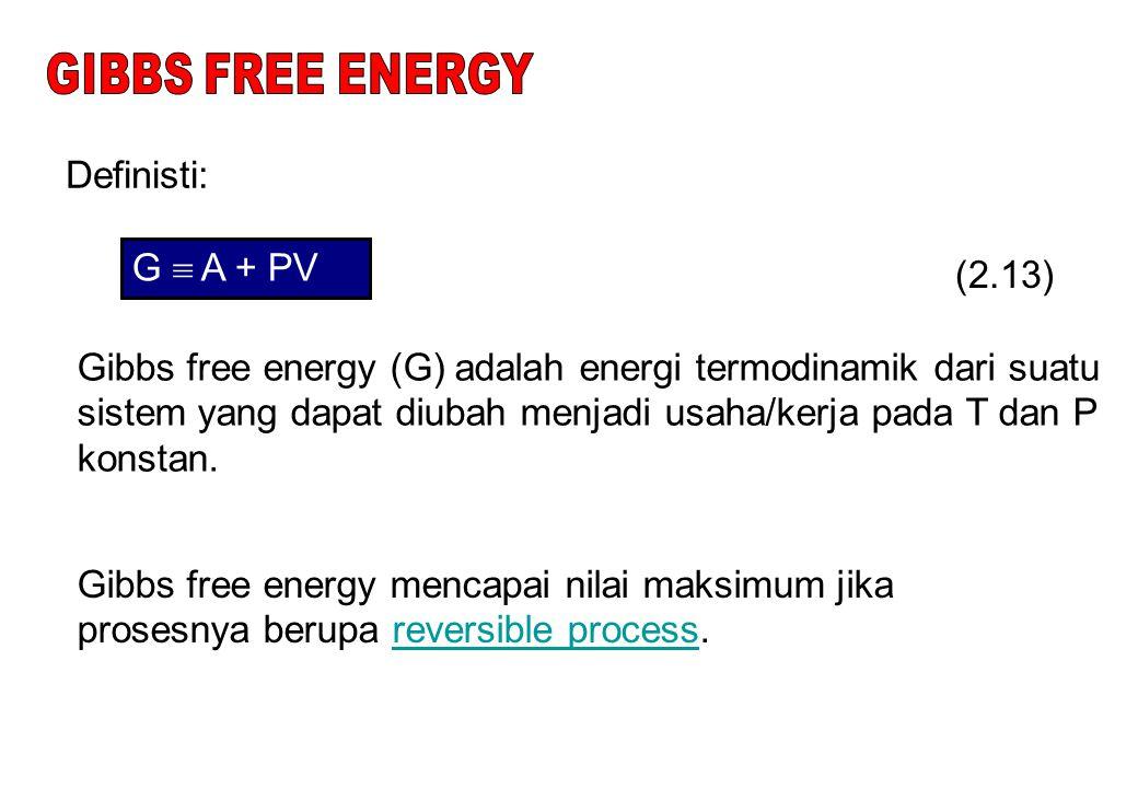 Untuk gas ideal: P V ig = RT Pers. (33): (2.35)