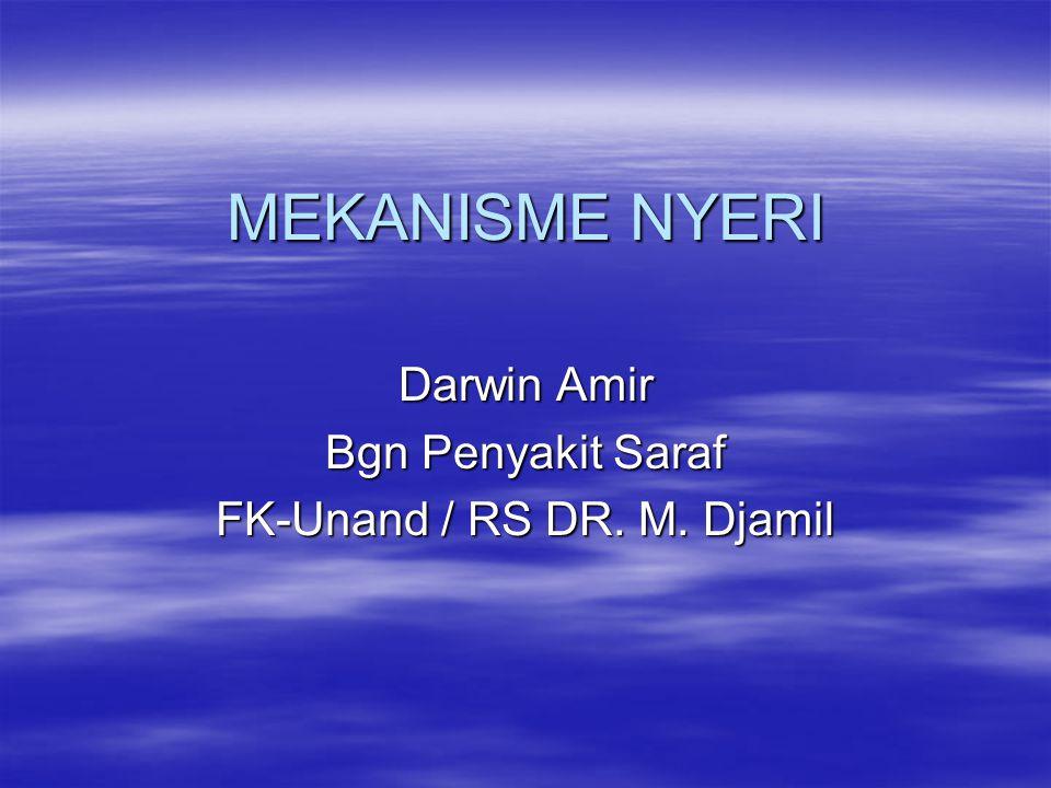 MEKANISME NYERI Darwin Amir Bgn Penyakit Saraf FK-Unand / RS DR. M. Djamil