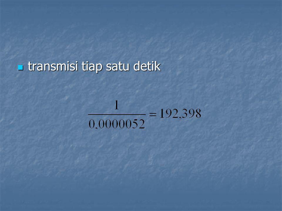 transmisi tiap satu detik transmisi tiap satu detik