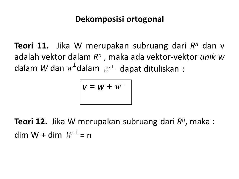 Dekomposisi ortogonal Teori 11.