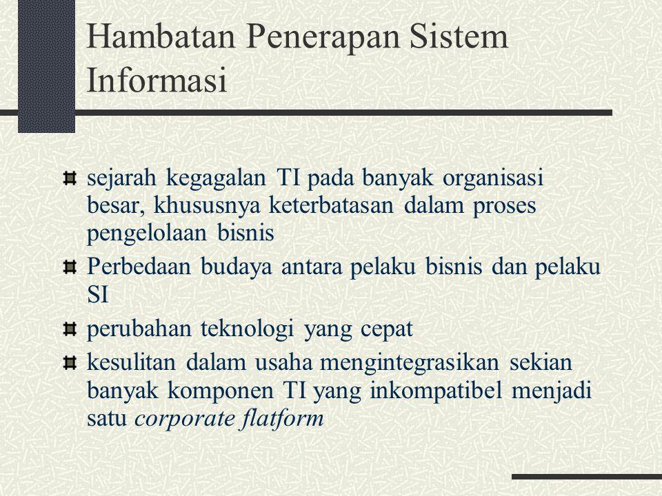 Dalam menerapkan Sistem Informasi secara strategis merupakan suatu proses, dan tidak bisa terjadi secara instan.