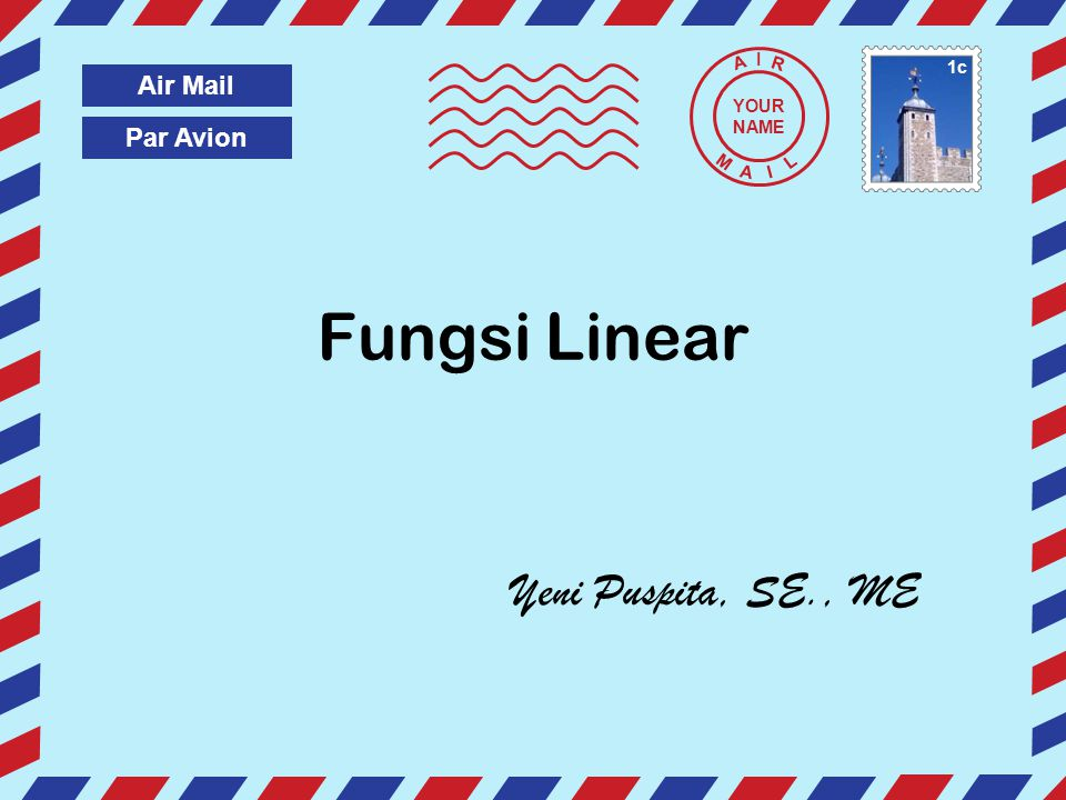 Pengertian dan unsur-unsur fungsi $ 3.001 st Class My Postal Service Fungsi : Suatu bentuk hubungan matematis yang menyatakan hubungan ketergantungan (hubungan fungsional) antara satu variabel dengan variabel lain.