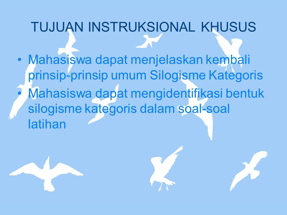 Empat figura silogisme (lanjutan) FIGURA III Term M menjadi subjek dari premis mayor dan minor M P M S S P Contoh: Semua dosen adalah pendidik.