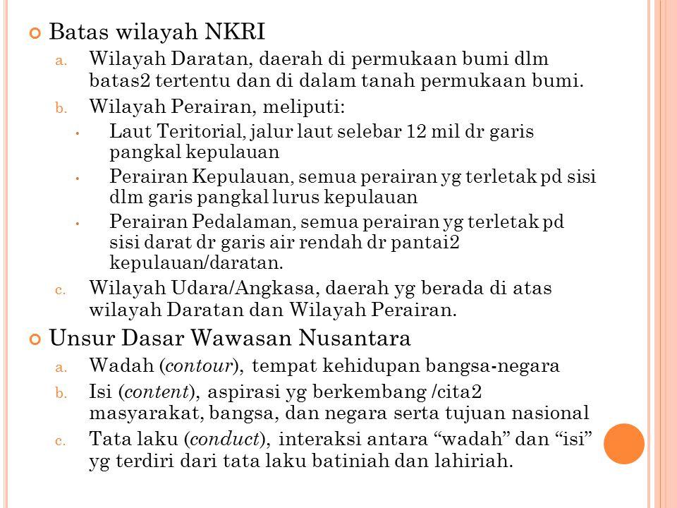 Batas wilayah NKRI a.
