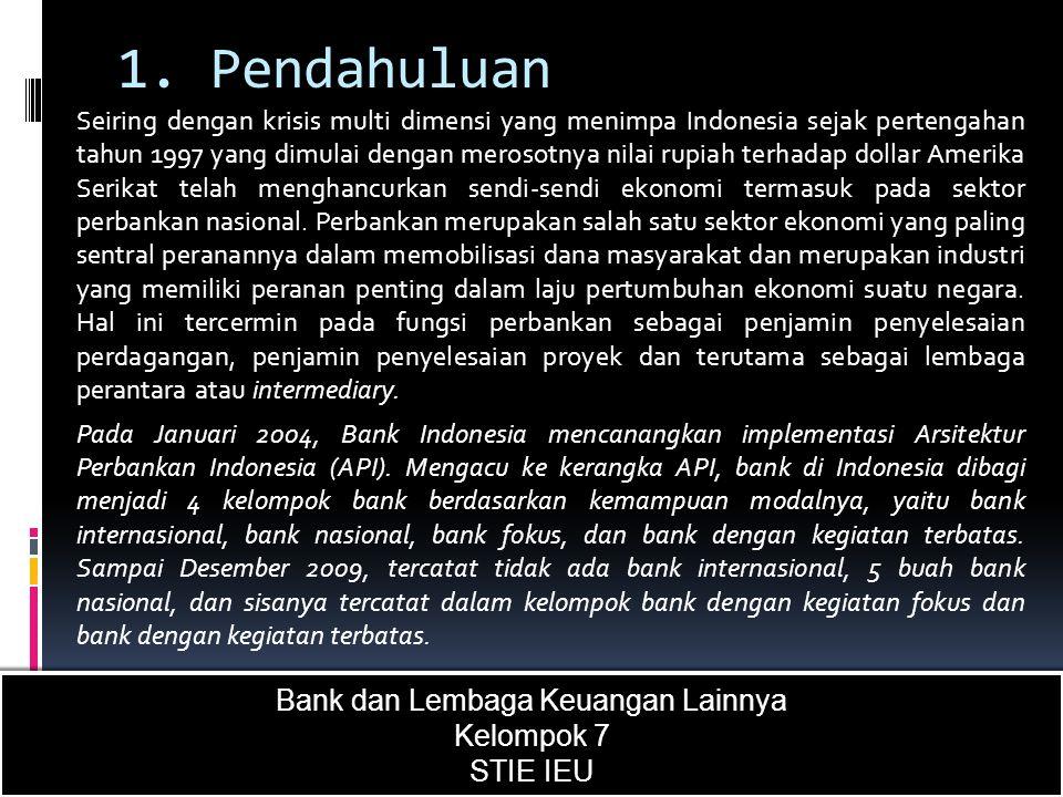 1. Pendahuluan Seiring dengan krisis multi dimensi yang menimpa Indonesia sejak pertengahan tahun 1997 yang dimulai dengan merosotnya nilai rupiah ter