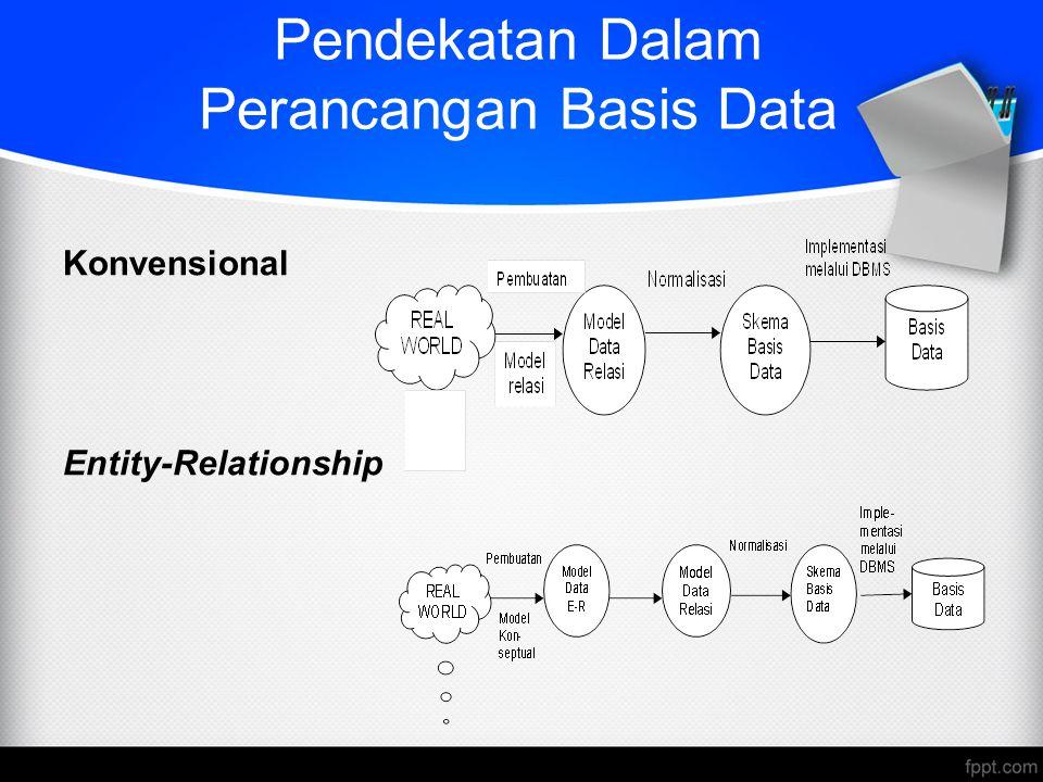 Pendekatan Dalam Perancangan Basis Data Konvensional Entity-Relationship