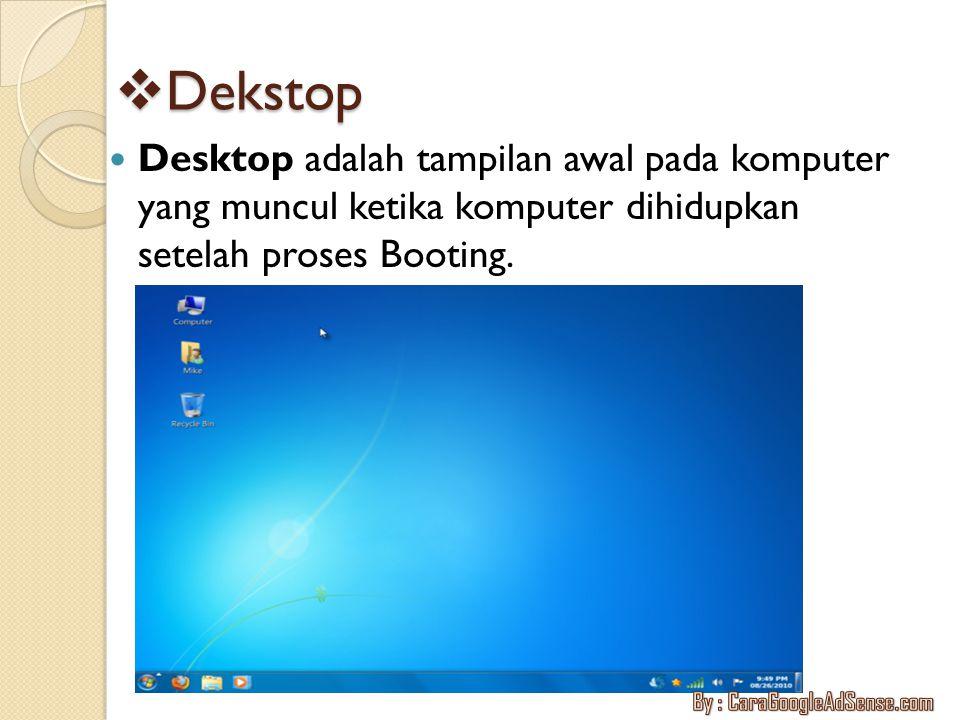  Operasi Mouse Mouse adalah suatu perangkat hardware mempunyai fungsi utama yaitu menggerakkan kursor.