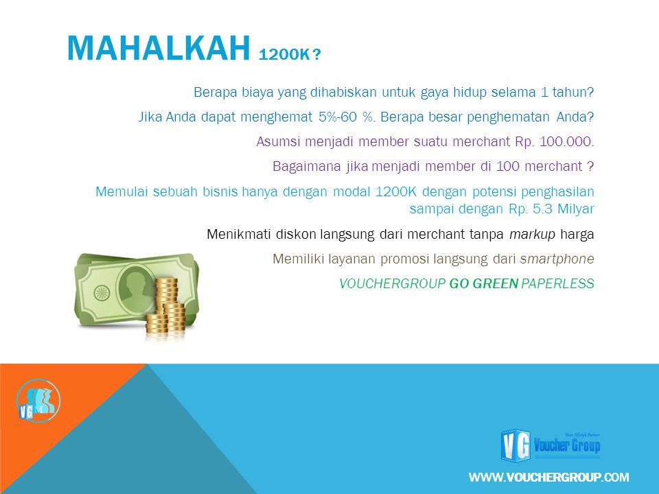 Berapa biaya yang dihabiskan untuk gaya hidup selama 1 tahun? Jika Anda dapat menghemat 5%-60 %. Berapa besar penghematan Anda? Asumsi menjadi member