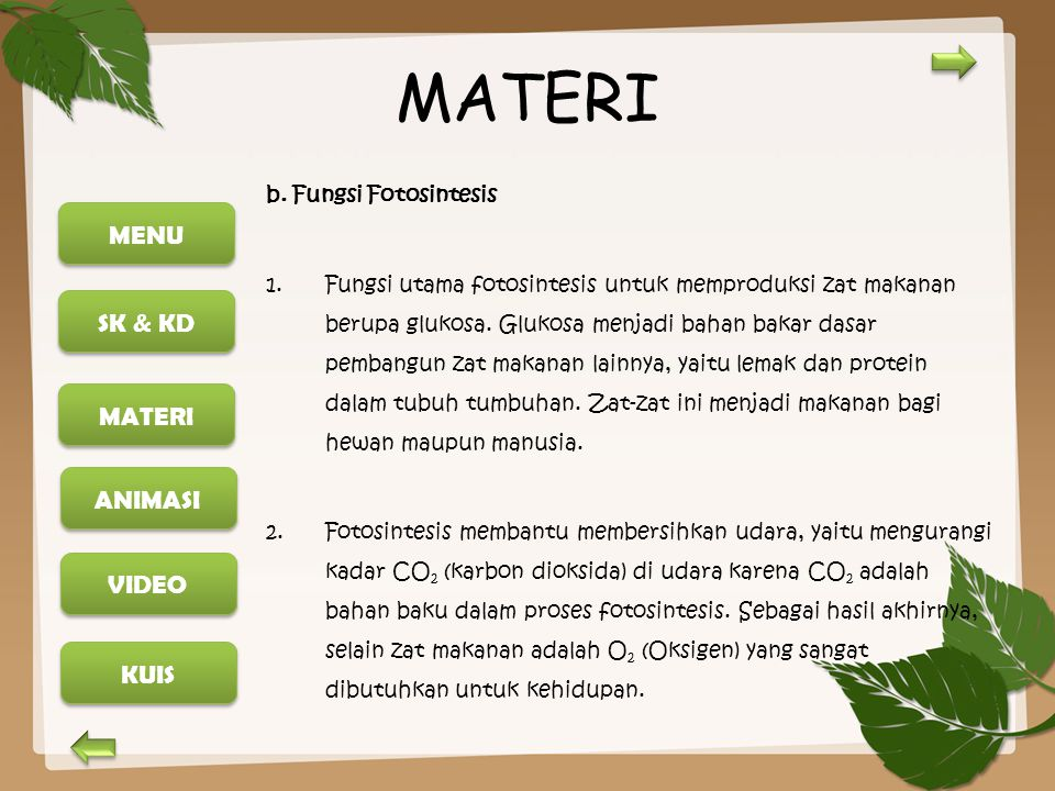 MENU SK & KD MATERI ANIMASI KUIS VIDEO MATERI C.