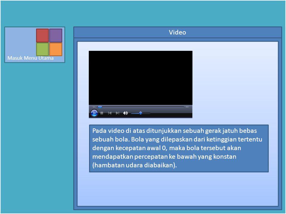 Video Pada video di atas ditunjukkan sebuah gerak jatuh bebas sebuah bola.