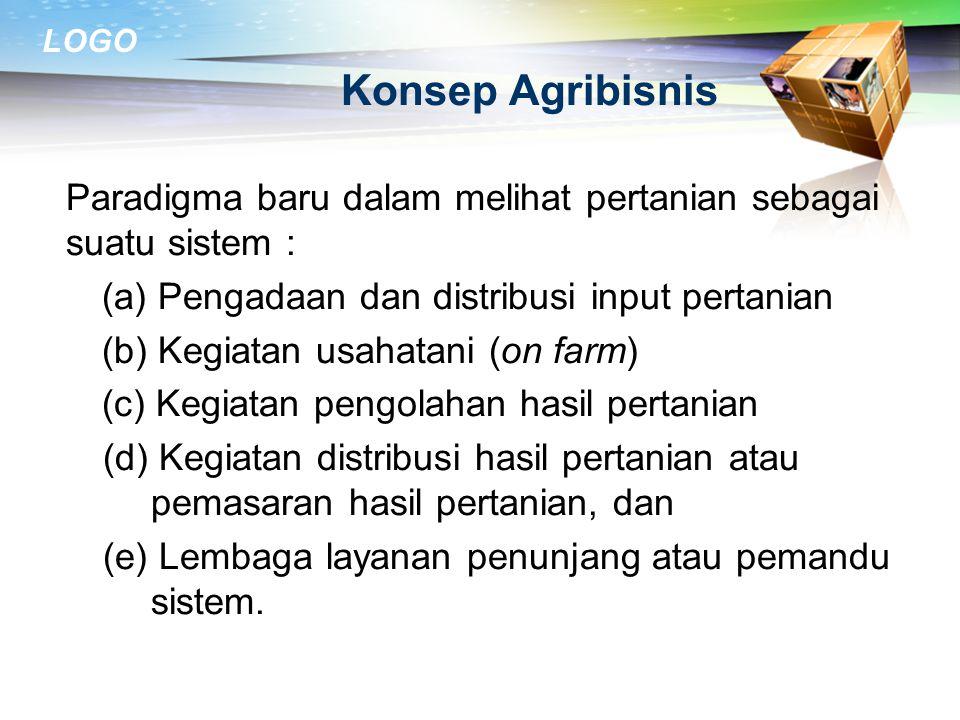 LOGO PERAN AGRIBISNIS DAN STRATEGI PENGEMBANGAN 21