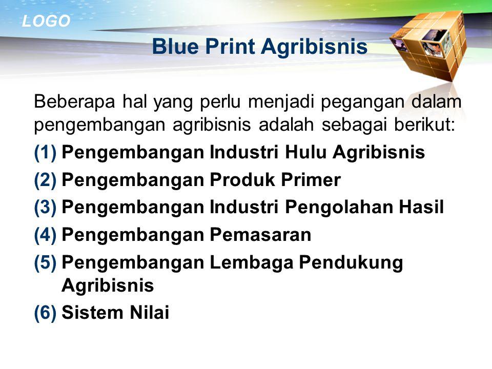 LOGO Tantangan Agribisnis Sektor pertanian dihadapkan pada persoalan-persoalan kemiskinan, tekanan penduduk, tenaga kerja yang tidak terampil, dan pen