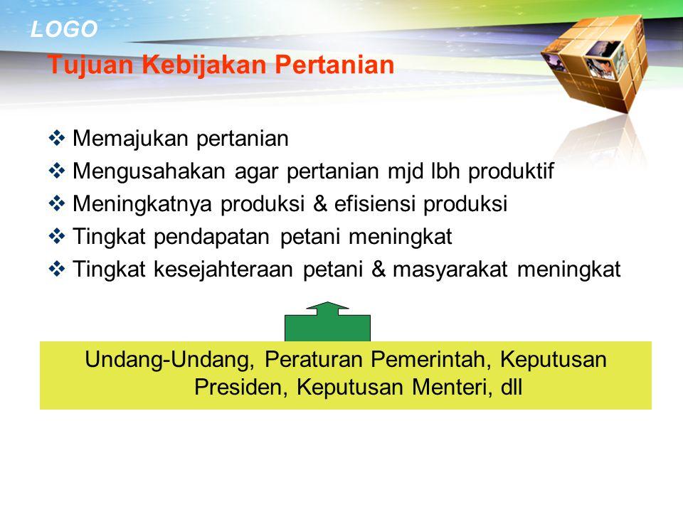 LOGO Dari sisi impor tahun 2010 Indonesia masih impor;  Beras, gula, kedelai, gandum  Jagung, ternak sapi, tepung telur, susu bubuk,  Makanan olaha