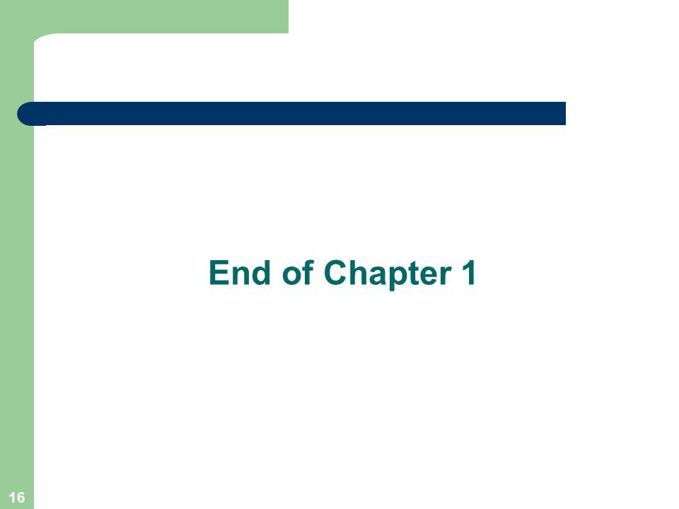 16 End of Chapter 1