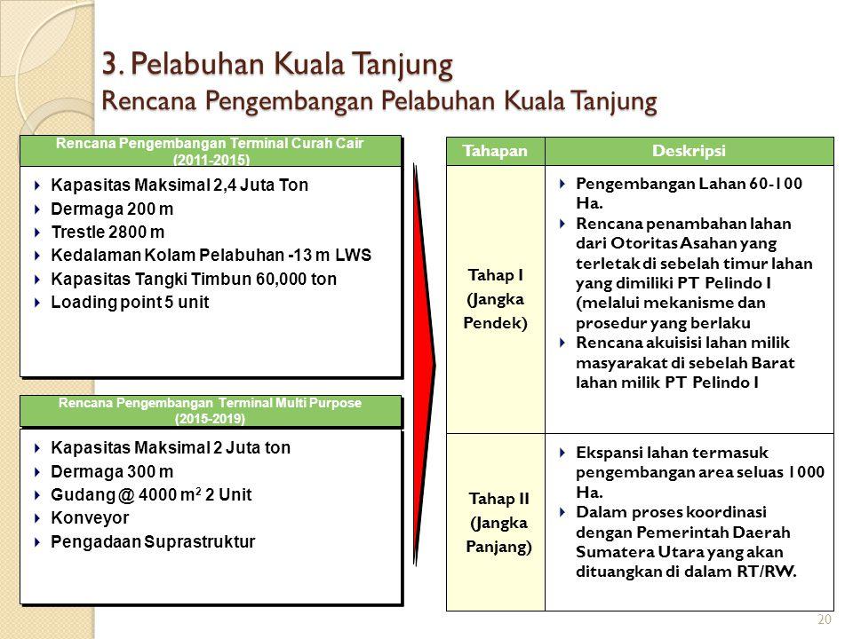 3. Pelabuhan Kuala Tanjung Rencana Pengembangan Pelabuhan Kuala Tanjung Rencana Pengembangan Terminal Curah Cair (2011-2015) Rencana Pengembangan Term