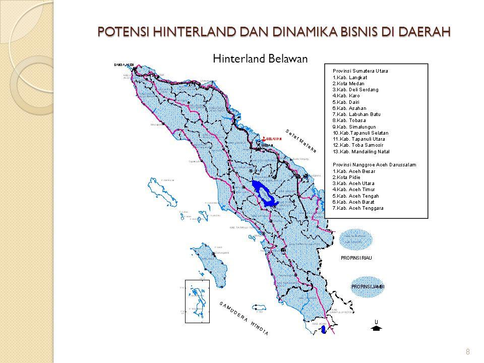 POTENSI HINTERLAND DAN DINAMIKA BISNIS DI DAERAH 8 Hinterland Belawan