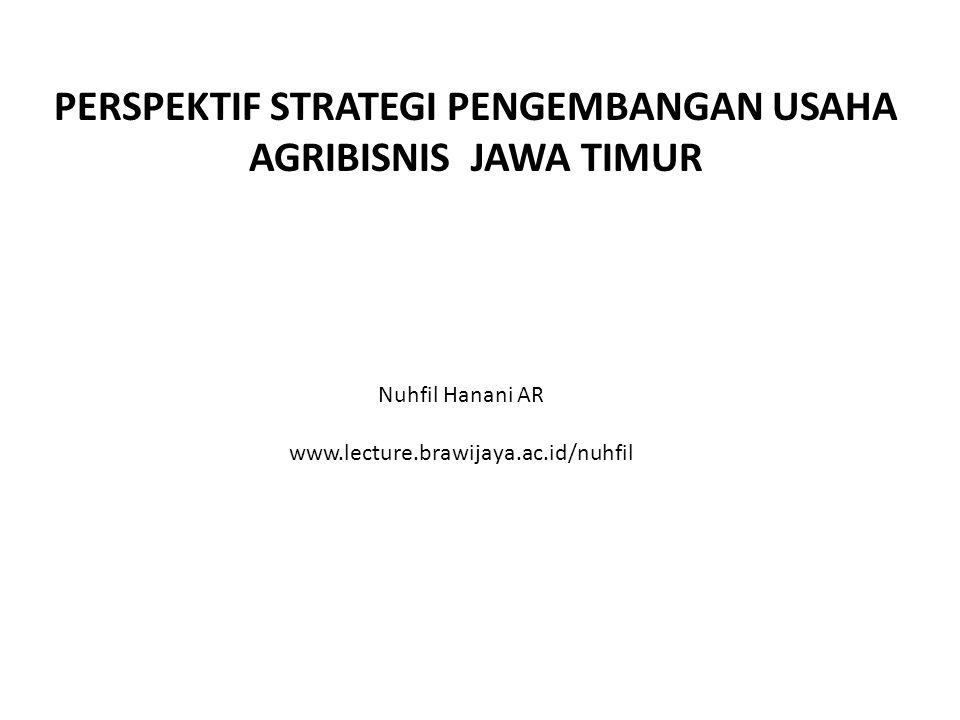 PERSPEKTIF STRATEGI PENGEMBANGAN USAHA AGRIBISNIS JAWA TIMUR Nuhfil Hanani AR www.lecture.brawijaya.ac.id/nuhfil