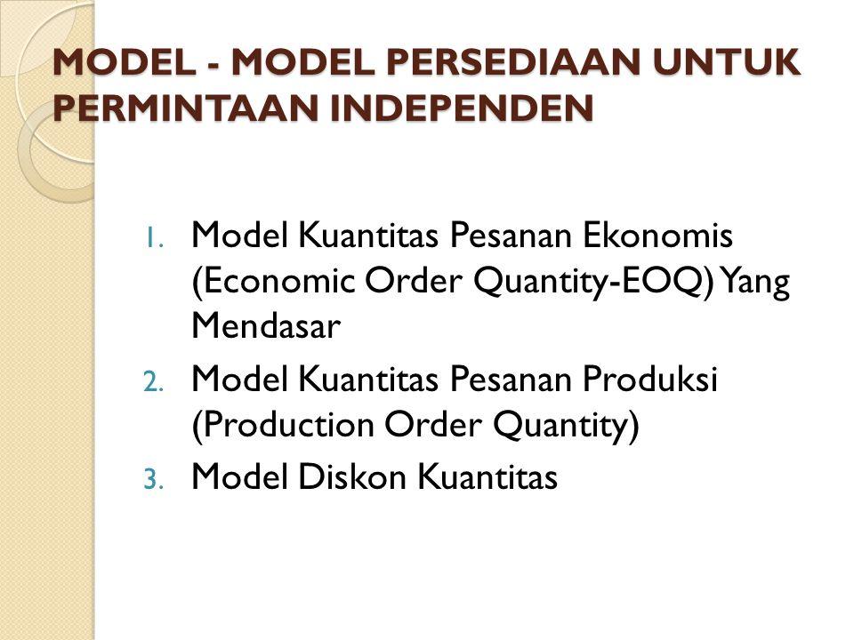 MODEL - MODEL PERSEDIAAN UNTUK PERMINTAAN INDEPENDEN 1.