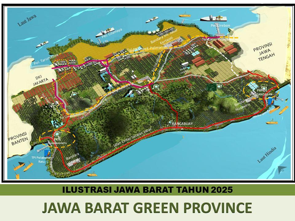Pel. Cilamaya Pel.Cirebon RANCABUAY A PROVINSI BANTEN PROVINSI JAWA TENGAH Waduk Jatigede ILUSTRASI JAWA BARAT TAHUN 2025 DKI JAKARTA Bandara Int. Jab