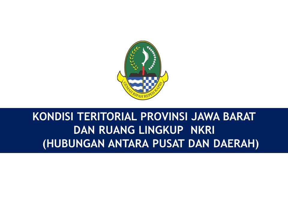 Kabupaten/Kota: 26 Luas : 3.709.528,44 Ha Kecamatan : 625 Kelurahan : 638 Desa: 5.316 Penduduk 2011 Indonesia : 241.037.751 Jiwa Jawa Barat: 44.286.519 Jiwa Penduduk Miskin : 10,57% Pengangguran Terbuka : 9,83% GAMBARAN UMUM PROVINSI JAWA BARAT (KONDISI 2011) (KONDISI 2011) Perkembangan Jumlah Penduduk PDRB (2011) : 343,11 T Inflasi (2011) : 3,10% LPE (2011) : 6,48% IPM (2011) : 72,82 RLS (2011) : 8,20 th AKI (2007) : 228 per 100.000 Kel Hidup (rev) AKB (2010) : 25 per 1.000 Kel Hidup (rev) APK SD : 119,06 Rangking 5 (2009/2010) APK SMP : 94,03 Rangking 23 (2009/2010) APK SMA : 59,56 Rangking 31 (2009/2010) APK PT : 11,11 Rangking 24 (2009/2010 ) PDRB (2011) : 343,11 T Inflasi (2011) : 3,10% LPE (2011) : 6,48% IPM (2011) : 72,82 RLS (2011) : 8,20 th AKI (2007) : 228 per 100.000 Kel Hidup (rev) AKB (2010) : 25 per 1.000 Kel Hidup (rev) APK SD : 119,06 Rangking 5 (2009/2010) APK SMP : 94,03 Rangking 23 (2009/2010) APK SMA : 59,56 Rangking 31 (2009/2010) APK PT : 11,11 Rangking 24 (2009/2010 ) Kontribusi PDRB Jawa Barat terhadap PDB Nasional : 14,33 % (Thn.