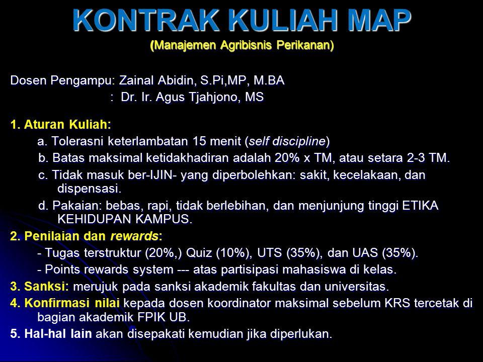 Syllabus Mata Kuliah MANAJJEMEN AGRIBISNIS PERIKANAN 1.