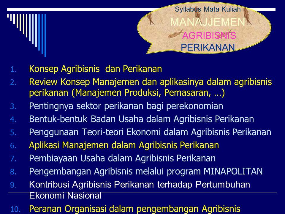 References 1.Abidin, Zainal.2012. Modul Manajemen Agribisnis Perikanan.