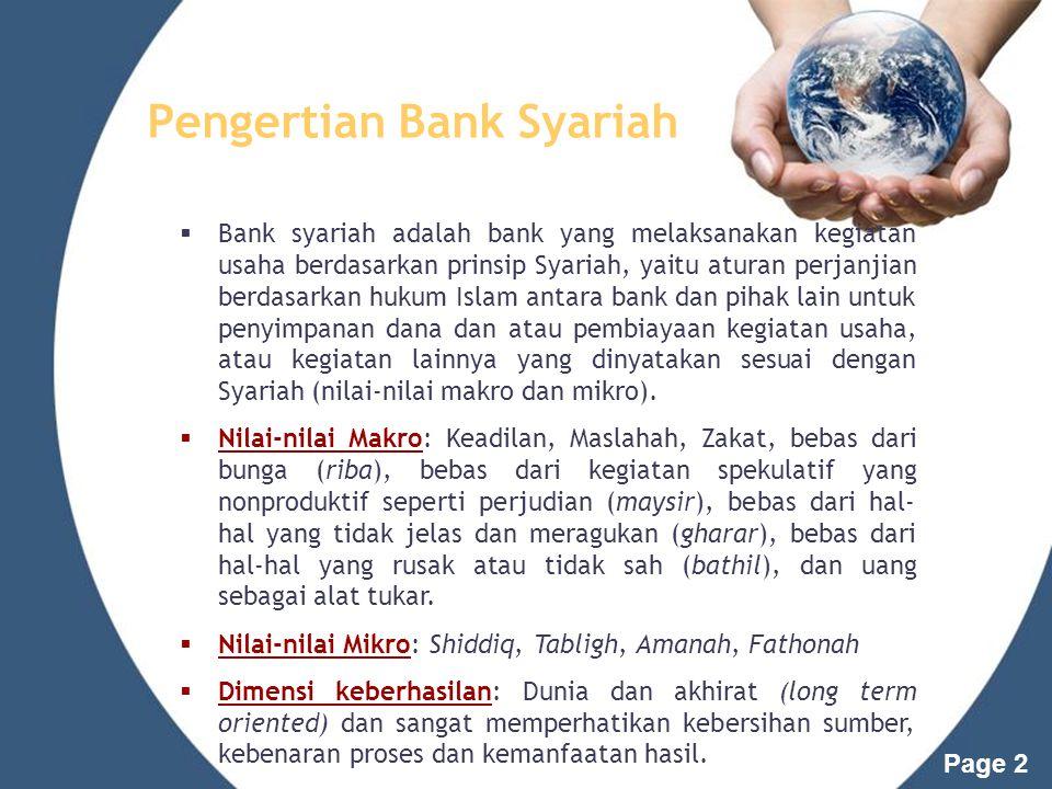 Page 1 Bank Syariah PERTEMUAN 8
