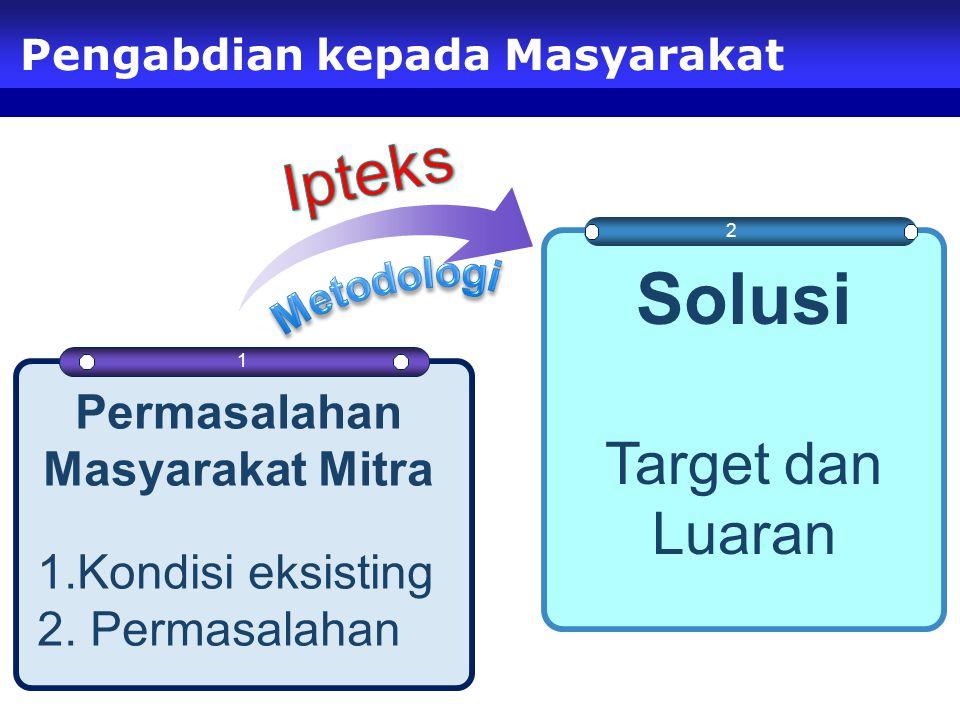 3 Pengabdian kepada Masyarakat 2 1 Permasalahan Masyarakat Mitra 1.Kondisi eksisting 2.