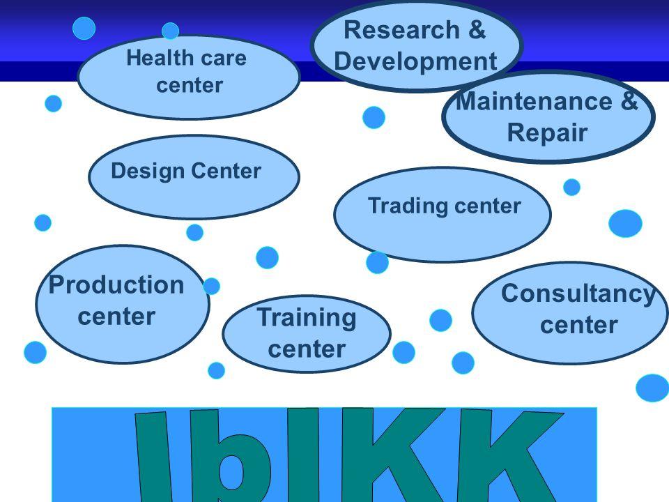 34 Consultancy center Production center Training center Maintenance & Repair Trading center Design Center Health care center Research & Development