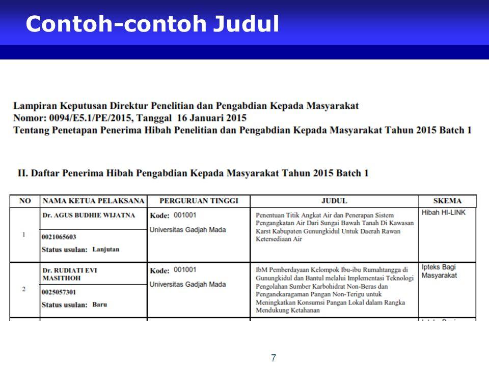 Contoh-contoh Judul 7