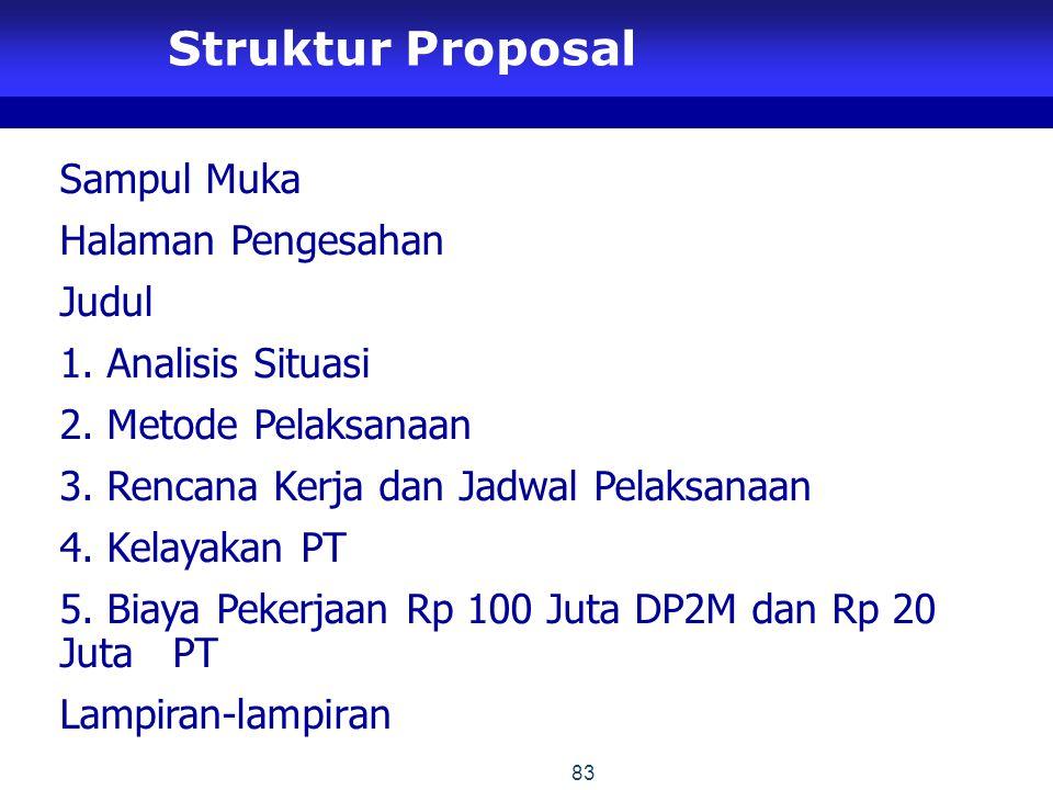 Struktur Proposal Sampul Muka Halaman Pengesahan Judul 1.