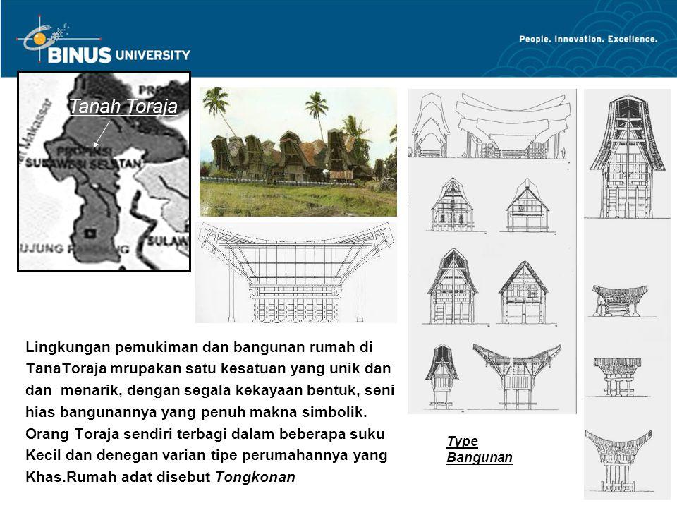 Gb 1 : Seni hias bangunan Tongkonan dengan motif geo- metrik atau dikombinasi dengan bentuk yang disederha- na kan dari flora atau fauna dan dalam tata warna hitam, merah dan putih,dan putih.