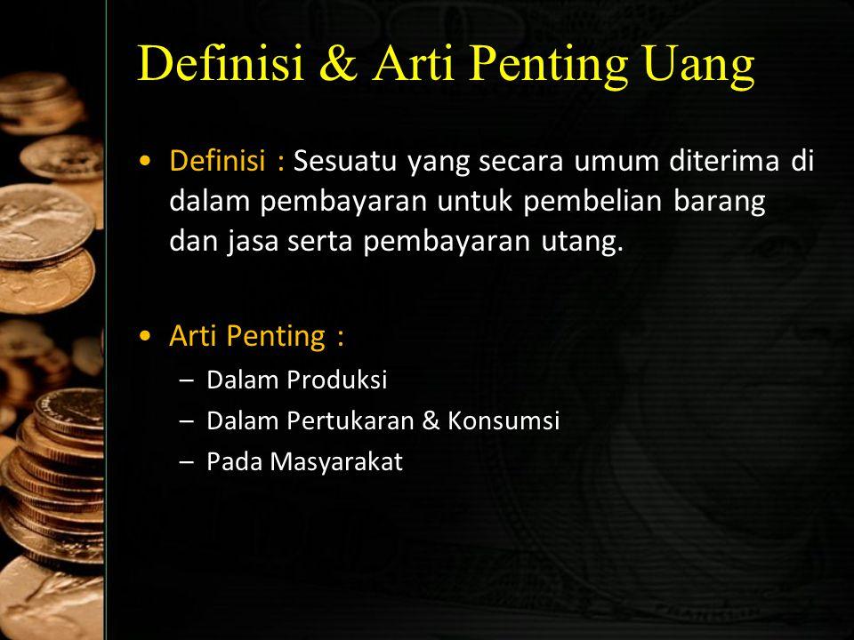Sejarah Jenis-Jenis Uang di Indonesia Jenis-jenis mata uang sebelum tahun 1951: –ORI (Uang Republik Indonesia) di pulau Jawa –URIDAB (Uang Republik In