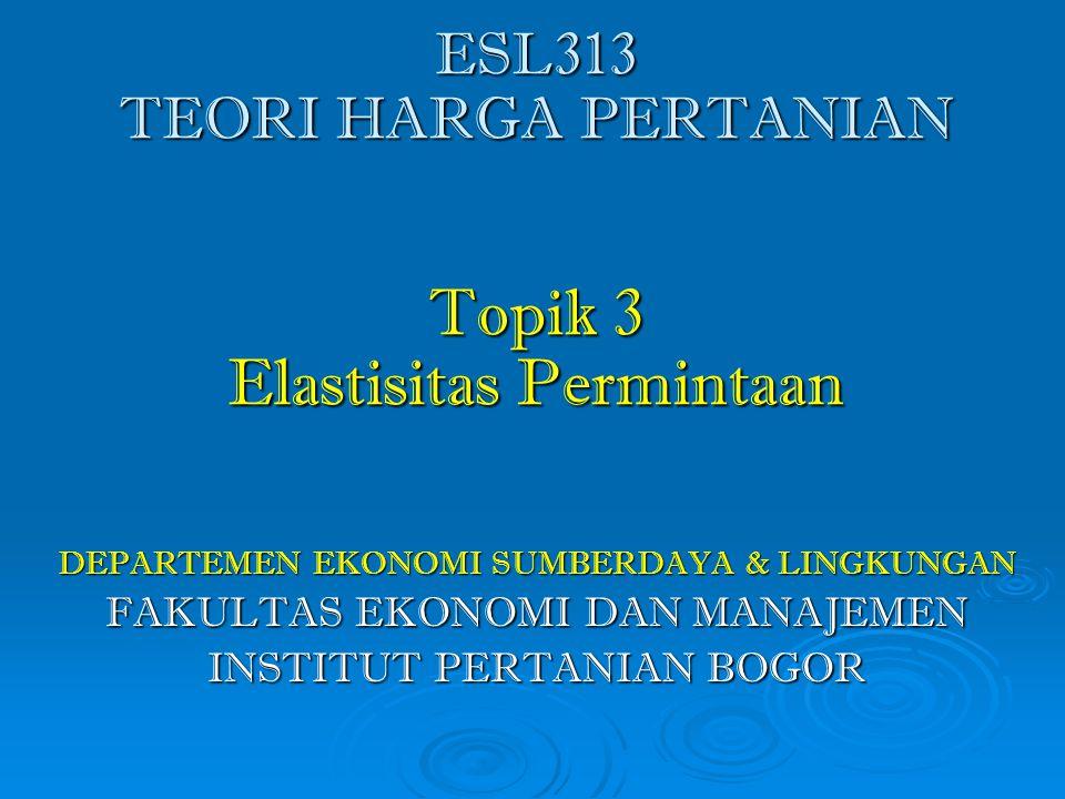 Elastisitas Permintaan 1.