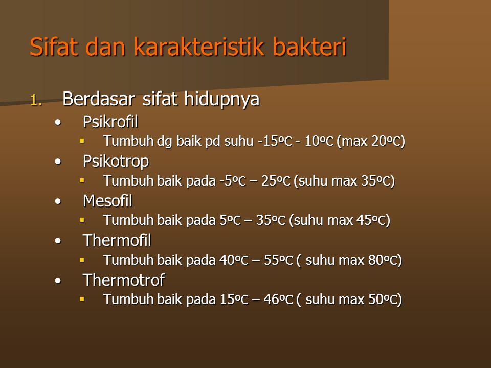 Sifat dan karakteristik bakteri 1.