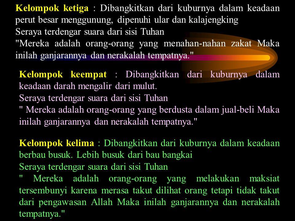 Sahabat Ma'adz bin Jabal bertanya kepada Rasulullah :