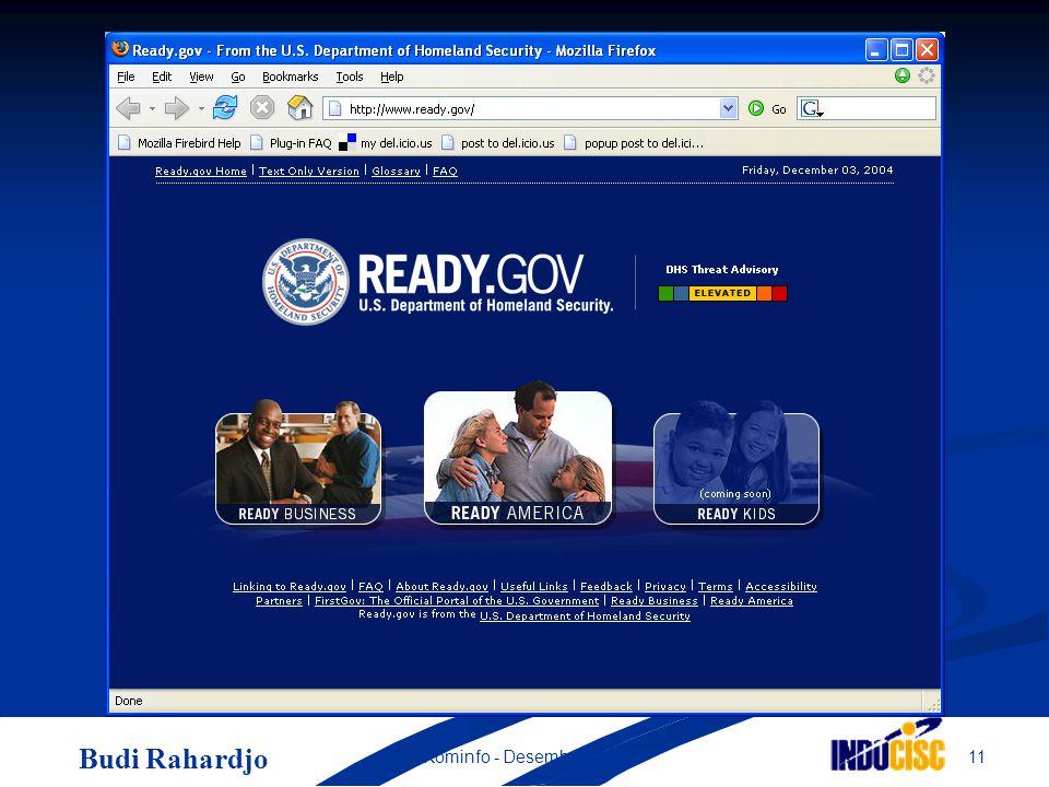 Budi Rahardjo 11Kominfo - Desember 2004