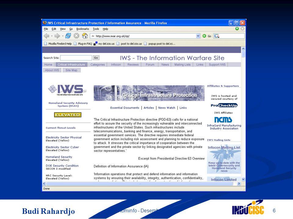Budi Rahardjo 6Kominfo - Desember 2004