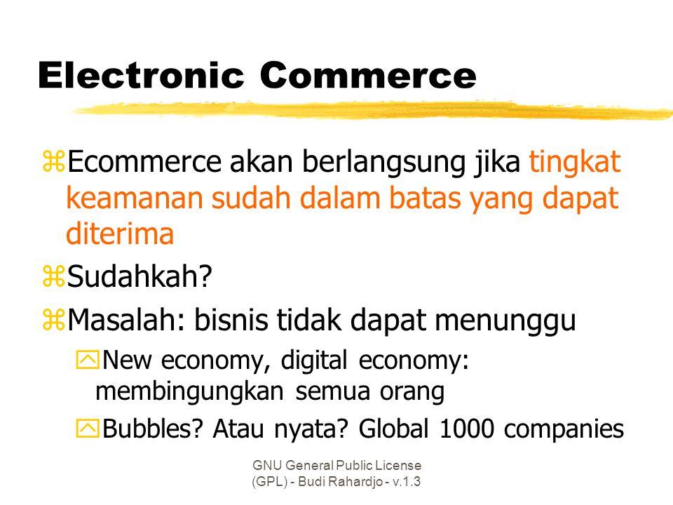 GNU General Public License (GPL) - Budi Rahardjo - v.1.3 Contoh kasus keamanan di Indonesia zPenjebolan web site (yang baru) ywww.RedHat.or.id ySatelindo.co.id yPolri.go.id yFKP.or.id yBEJ, dst.