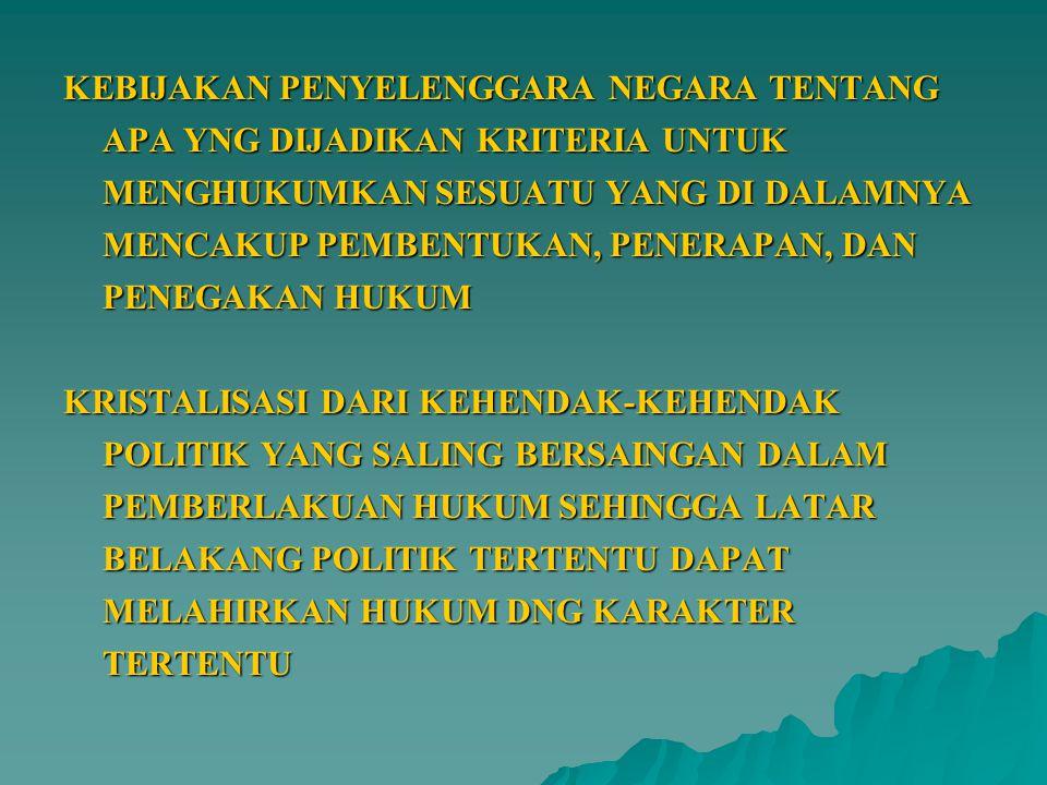  PROLEGNAS DISUSUN OLEH DPR BERSAMA PEMERINTAH YANG DALAM PENYUSUNANNYA DIKOORDINASIKAN OLEH DPR (PSL 20 (1) UUD 1945)  KEDUDUKAN PROLEGNAS SEBAGAI WADAH POLITIK HUKUM (PSL 15(1) UU NO 10 THN 2004)  PROLEGNAS ADALAH INSTRUMEN PERENCANAAN PROGRAM PEMBENTUKAN UU YG DISUSUN SECARA BERENCANA, TERPADU DAN SISTEMATIS