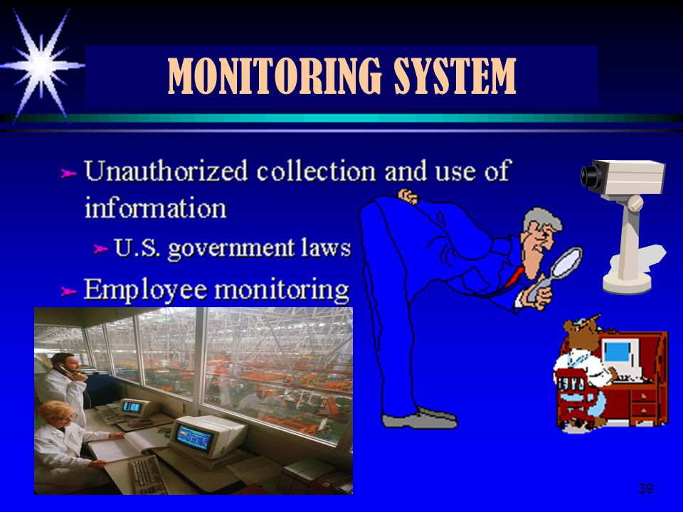 3/28/201539 MONITORING SYSTEM 39